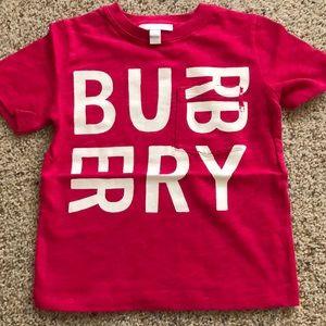 Burberry kids cotton blend logo T-shirt